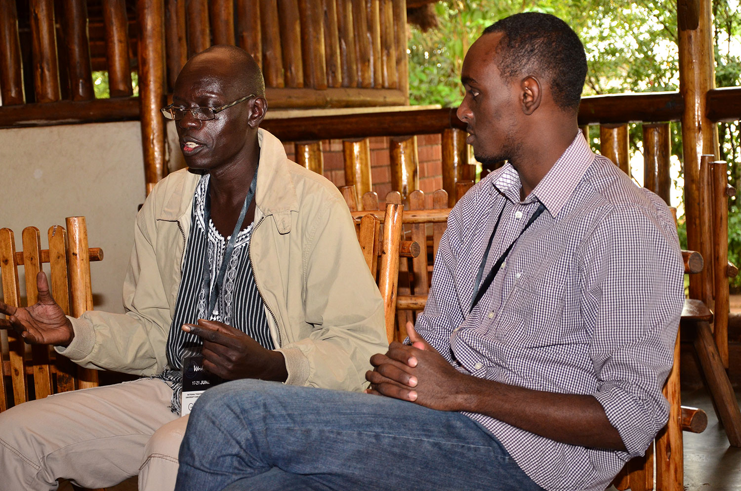 Kwezi-Tabaro-right-with-a-guest-at-Ubuntu-Convos1